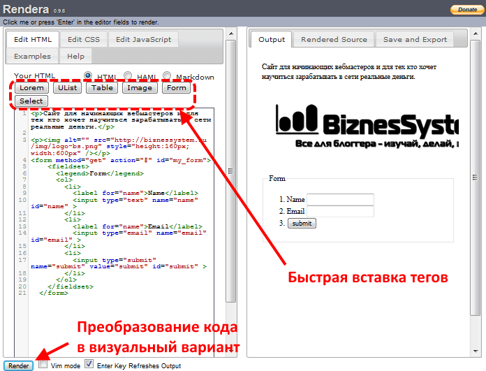 Editor HTML visuale  Visual HTML Editor