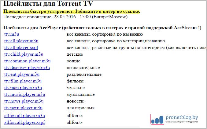 плейлисты iptv каналов m3u 2017 рабочие